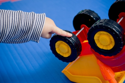 Autism in children often presents in an unusual fascination with moving objects