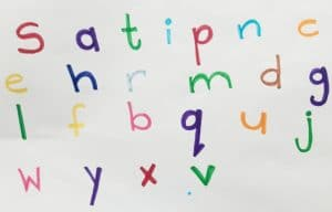 Order in which to introduce letters when teaching a child to read
